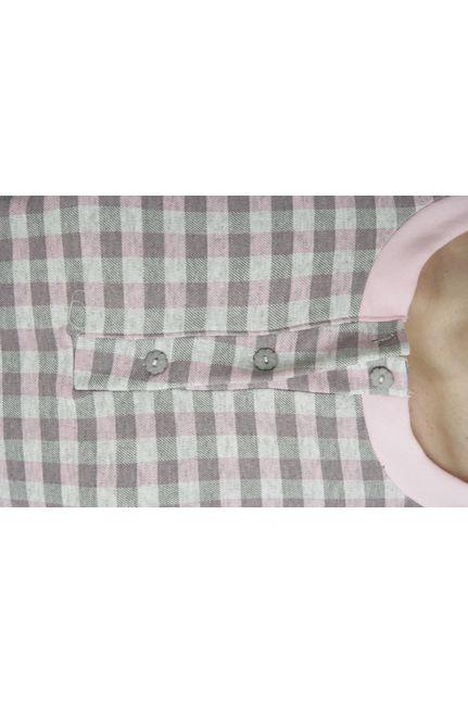 Βαμβακέρό Γκρί-Ρόζ Καρώ Interlock