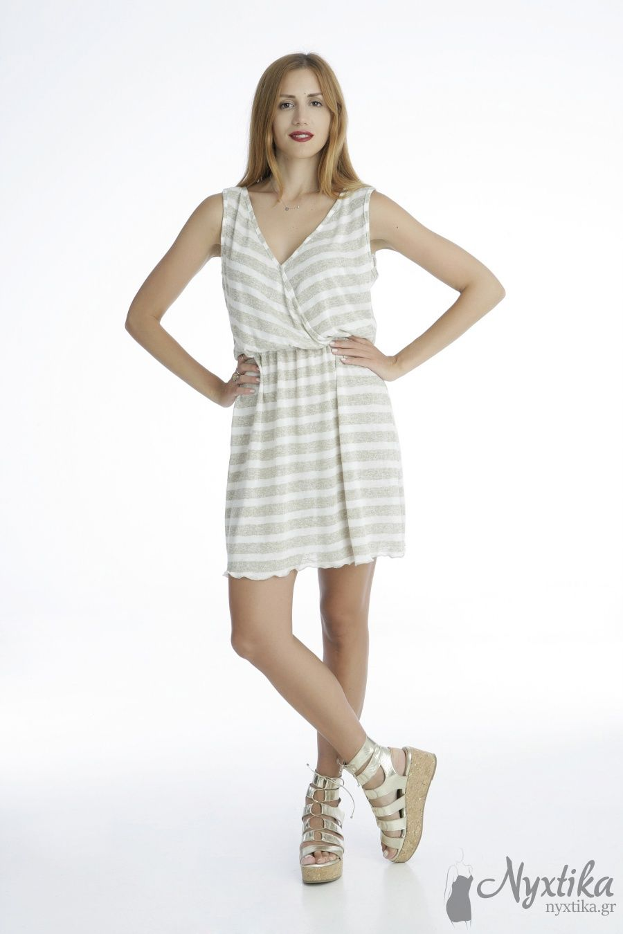 dffe5ead9ff Δροσερό Βαμβακερό φόρεμα παραλίας εγκυμοσύνης, μεγάλα μεγέθη