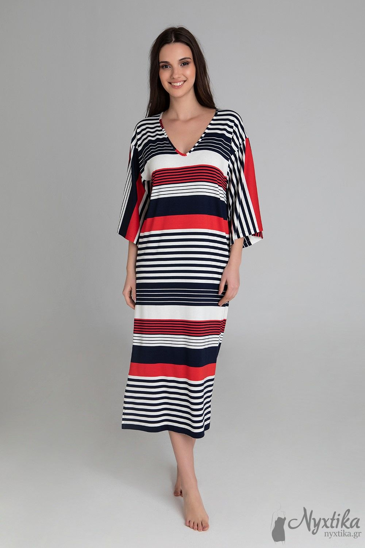 24ee32334ca Δροσερό Καφτάνι-Φόρεμα Θαλάσσης Σε Άνετη Γραμμή.Ιδανικό κ Για Εκυμοσύνη,  Υπέροχο Κ σε Πολύ Μεγάλα Μεγέθη