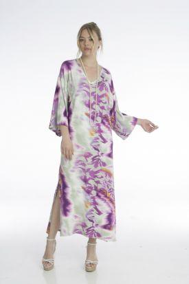 μάξι ριχτό φόρεμα-νυχτικό με v nyxtika.gr
